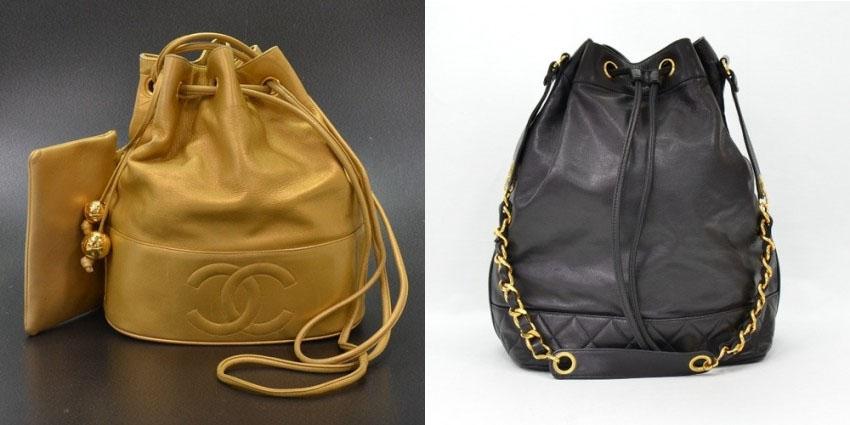 6193a735841e Chanel Bucket Bag-portero Vintage Chanel Bucket Bags