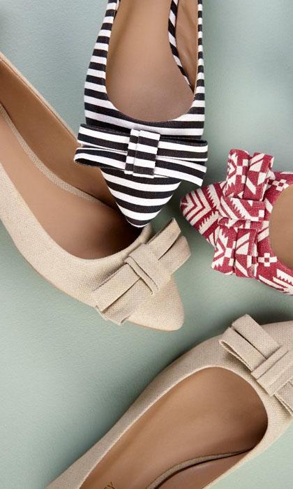 Bow Pointy toe flats-R