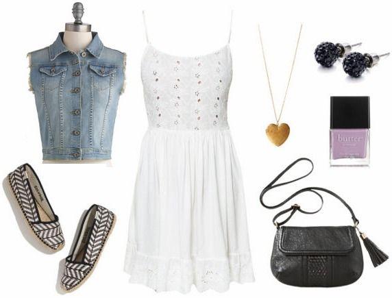 Little White Dress + Espadrilles-O