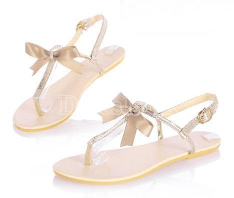 Ribbon Bowknot Gladiator Shoes-R